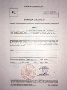 licencja UE - nowa